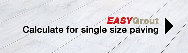 EASYGrout Calculator for a Single Paving Size